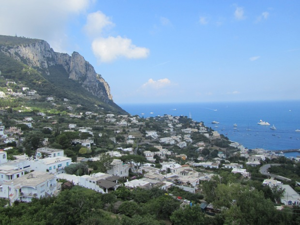 capri from chair lift