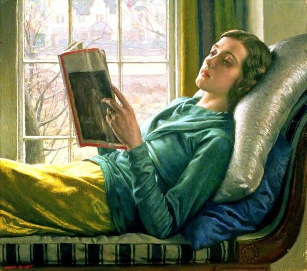 Knight, Harold (1874-1961) Reading